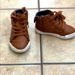 """Little boy Cat and Jack """"leather"""" boots"""